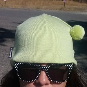 Descente Chartreuse Merino Lined Beanie Hat